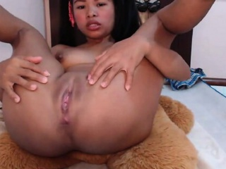 Asian girl with vibrating..