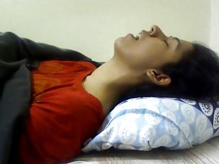 Indian girl having orgasm...