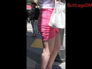Candid Asian Miniskirt..