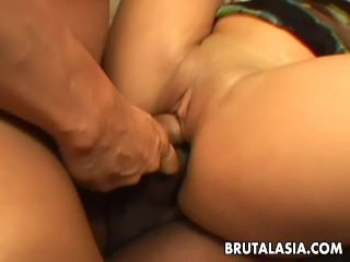 She gets fucked in a group..