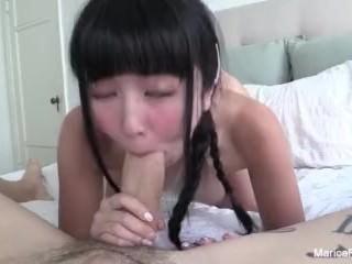 Cute Asian Marica gets a..