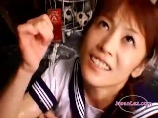Asian Schoolgirl Makes..