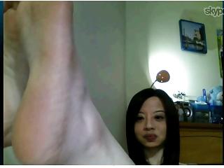 Taiwanese woman shows feet..