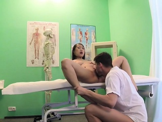 Natural busty Asian patient..