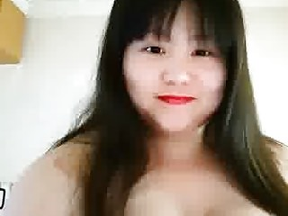 Fat Chinese whore playing..