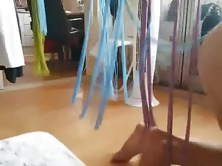 Korean housewife cleaning