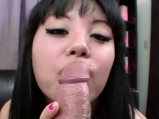 Asian Teen Gets a Huge..