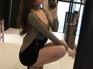 sexy korean girl on heels