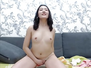Cute Asian out of reach of..