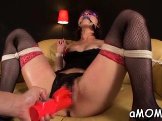 Milf with magic boobs..