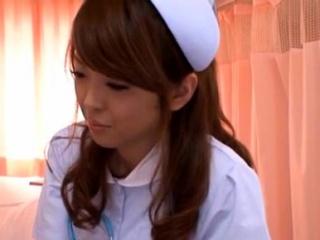 Cute nurse gives a dewy oral..