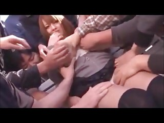 Groping a Japanese..