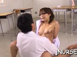 Asian nurse loves 10-pounder..