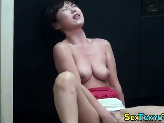 Horny asian slut rubbing