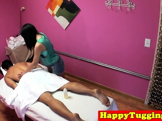 Asian masseuse gets..