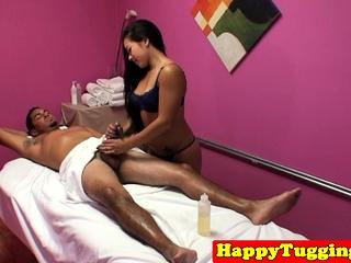 Asian masseuse dickriding..