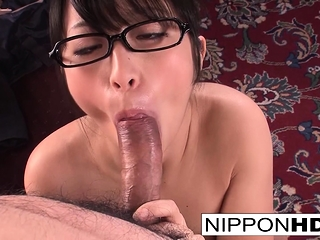 Japanese secretary blows her..
