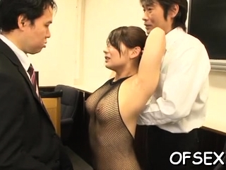Nude office doxy gets..
