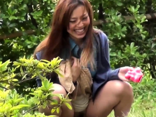 Japanese worker babe pees..