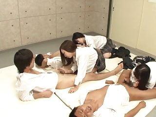 Japanese schoolgirls handjob..