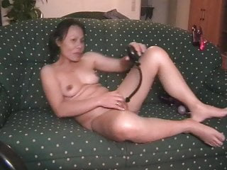 ann with dildo and pump