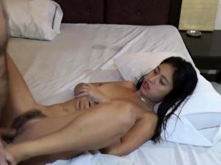 Horny Asian Teen sucks..