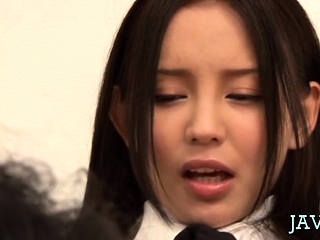 Japanese housewife gives a..