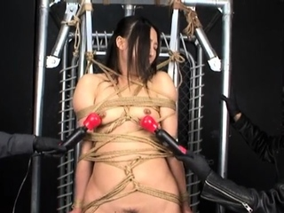 Asian needle bdsm of busty..