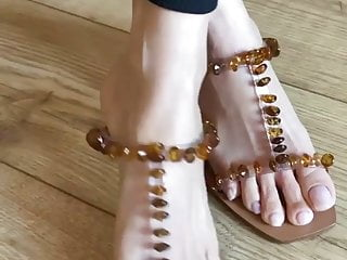Asian mature feet soles with..