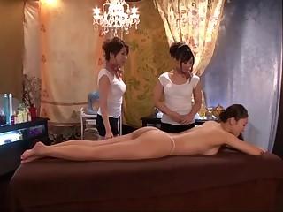 Japanese Lesbian massage a..