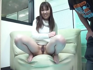 Tied Up Asian Teen Peeing