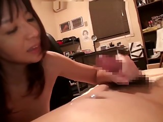 Asian mom doing her son as..