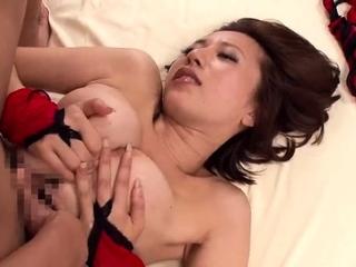 Tiny busty Japanese wife..