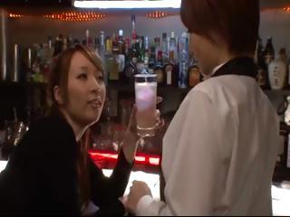 Japanese girls kiss each..