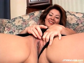 Sexy asian milf is stroked..